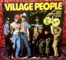 """1980 Village People """"Live And Sleazy"""" Ariola 300-680 2-LP *Germany Import~Sealed"""