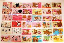 2x Cute Kawaii bear Rilakkuma cartoon pvc card holder card protector UK seller