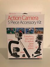 Sunpak Action Camera 5 Piece Accessory Kit Brand New in Original Box!