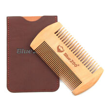 With Leather Case Wooden Comb Hair Tools Beard Small Double Sided Anti Static