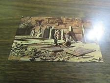 VINTAGE - PENNSYLVANIA BLUE STONE QUARRY  -  POST CARD - VG