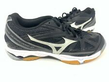 NEW! Mizuno Women's Wave Hurricane 3 Volleyball Shoes Black/Silver #4302 76M