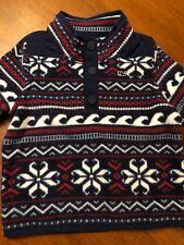 Vineyard Vines FairIsle Fleece Pullover Jacket 1/ 4 Snap Children Sz 5 Nwt $98