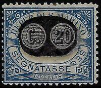 "1931 - San Marino - ""Segnatasse"" cent.20 su 5 ""varietà soprastampa spostata"""