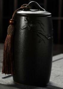 Pine Tree Tea Jar - Black
