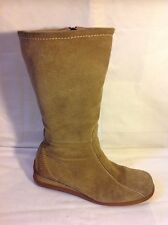Vera Gomma Brown Mid Calf Suede Boots Size 4