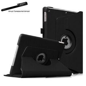 Housse Etui Noir pour Apple iPad Air / Air 2 Coque Support Rotatif 360°