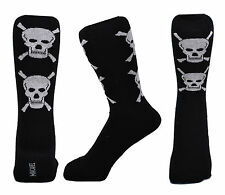Men Black Big Skull and Cross Bone Design Fashion Ankle Socks Size 6 - 11
