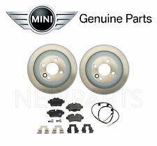 NEW Mini Coope R55 R56 R57 R58 JCW Rear Brake Disc Rotors with Pads & Sensor OES
