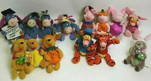14 pc Lot Disney Store Winnie the Pooh Mini Bean Bags Plush Tigger Eeyore Piglet