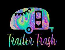 Trailer Trash in Psychedelic Pattern Printed Decal for Insulated Cup 20oz/30oz