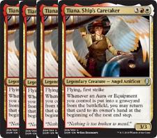 PRESALE- 4/27  Tiana, Ship's Caretaker X4 -NM- Dominaria MTG Gold Uncommon