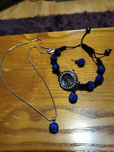 Shamballa bracelet watch crystal disco ball friendship macrame sparkling bead
