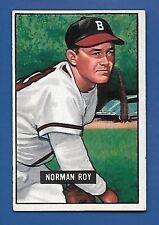 1951 Bowman # 278 Norman Roy  Boston Braves  EX+  SET BREAK