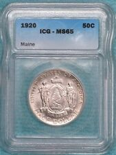 1920 MS-65 Maine Early Silver Commemorative Half Only 50,028 Minted #2
