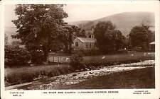 Llanarmon, Dyffryn Ceiriog. River & Church # LDC.2 by Lilywhite. Tuck & Frith.