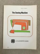 Vintage 1975-76 - 4-H Sewing Machine Leaders Guide and 2 Members Manuals