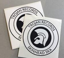 2 new Circular Vinyl Stickers  iPad skinhead reggae specials ska trojan mod 9cm