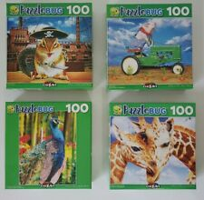 Cute 100 Piece Puzzles - Lot Of 4 Different Animal puzzles- Puzzlebug CraZart