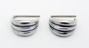 Estate Metropolitan Museum of Art USA Earrings in Sterling Silver 14k Gold Posts