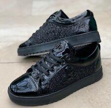 Philipp Plein Glossy Black Skull Sneakers Shoes UK 8/EU 42 /US 9