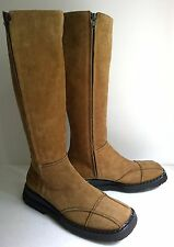 Italy VIC MATIE Womens Tan Suede BOOTS Double Zipper Sz 7