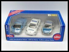 Siku 6302 Police 3 Car Gift Set Lamborghini Gallardo Audi R8 Porsche Panamera