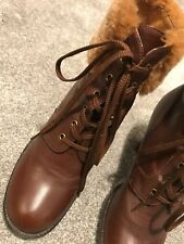 KissCat, Women short boots, Size 245, EU39, UK6. Long Heel Brown leather & Wool