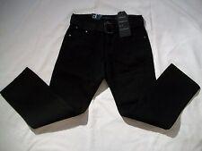 F.U.S.A.I. Boy's Black Jeans With Waist Belt- Size 8