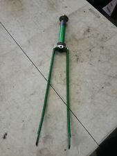 """SCHWINN CONTINENTAL BICYCLE 26"""" FORKS WITH BEARING AND NUTS GREEN NICE L$$K!"""