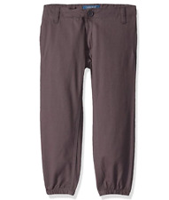 Cherokee Boys' Grey Twill School Uniform Jogger Pants Size 16 Adj. Waist Nwt