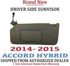 2014- 2015 Honda ACCORD *HYBRID* Driver Sunvisor Genuine OEM *CASHIMERE IVORY*