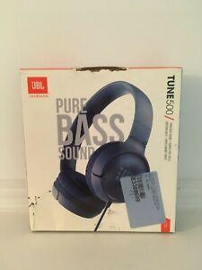 JBL Tune 500 Wireless On-Ear Headphones Blue