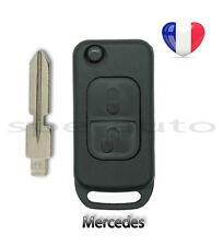 plip coque clé télécommande Mercedes Benz 2 boutons A E C S G SL + lame rainurée