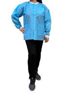 Disposable Lab JACKET 3 Pocket Blue or Pink Lab Jacket 10 pieces Hip Length