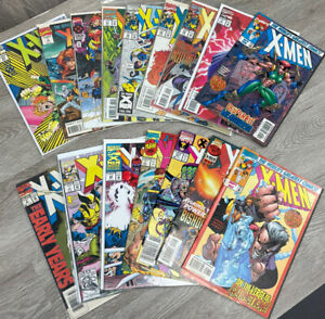 Lot of 16 X-Men Comics, Various Issues/Years, See Photos.
