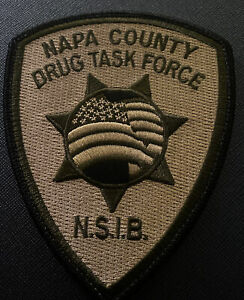 California Police Patch- Napa County Drug Task Force (Northern Ca)