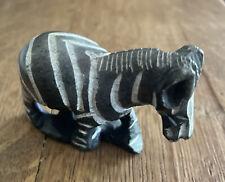 Zebra Carved In Stone Figure Miniature Animal Figurine