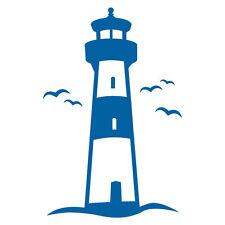 LEUCHTTURM AUFKLEBER Sticker Bad Deko Maritim Meer Spiegel Fliesen Glas Nordsee