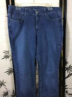 Lee Riders Women's Size 14 M Mid Rise Medium Wash Boot Cut Denim Blue Jeans