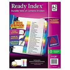 AVERY 11125 Ready Index TABLE of CONTENTS Tabs * ALPHABETICAL Dividers * A to Z