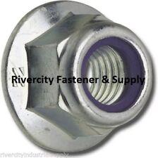 (25) M6-1.0 or 6mm Metric Hex Flange Stop Lock Nut / Nylon Insert DIN 6926