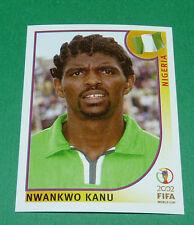 N°418 NWANKWO KANU NIGERIA PANINI FOOTBALL JAPAN KOREA 2002 COUPE MONDE FIFA