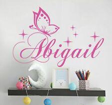 Personalized Name Wall Decal Butterfly Wall Sticker For Girl Nursery Stars Vinyl