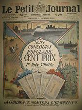 MONTANT DE L'EMPRUNT DETTE PUBLIQUE PENURIE DE CHARBON LE PETIT JOURNAL 1920