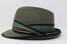 Vintage 1940-50's Stetson Select Fedora Straw Hat Mens Sz 7-1/4 ~ Near Mint