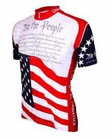 World Jerseys US Constitution Mens Cycling Jersey White/Red Medium