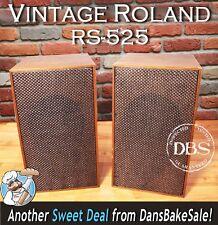 Roland 1970's Pair Vintage RS-525 Bookshelf Speakers 2-Way - Very Hard to Find!