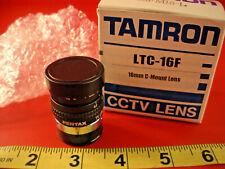 Cognex LTC-16F Lens CCTV 16mm 1:1.4 C Mount DVT Tamron LTC16F 23FM16-L Pentax