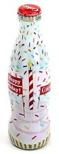 NEW World of Coca Cola Store HAPPY BIRTHDAY Sprinkles Wrapped 8 oz GLASS Bottle
